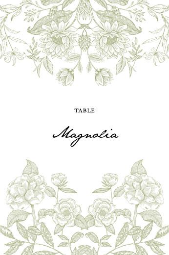 Marque-table mariage Psyché vert
