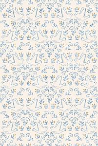 Menu de baptême beige l'envolée bleu