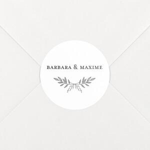 Stickers pour enveloppes mariage Psyché blanc