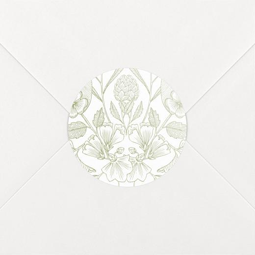 Stickers pour enveloppes mariage Psyché vert - Vue 2