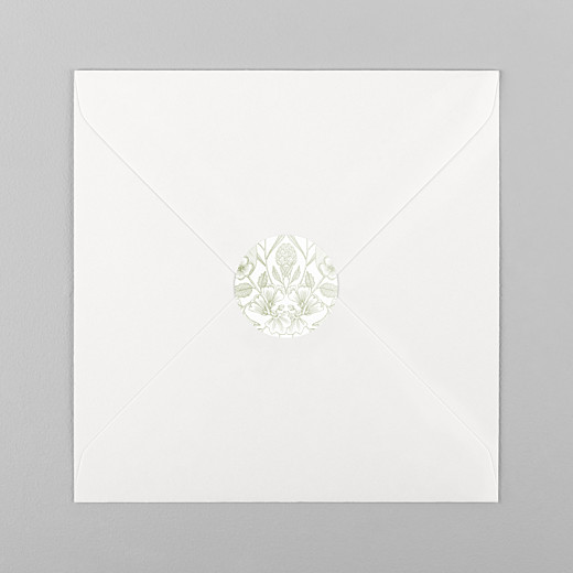 Stickers pour enveloppes mariage Psyché vert - Vue 1