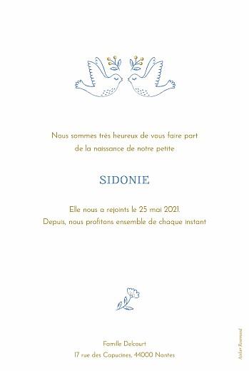 Faire-part de naissance L'envolée bleu - Page 2