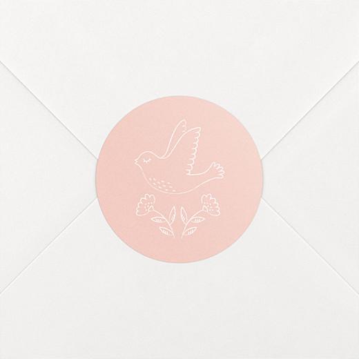 Stickers pour enveloppes naissance L'envolée rose - Vue 2