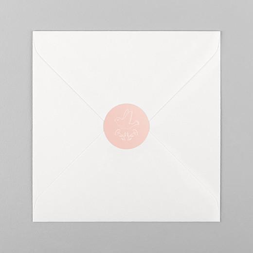 Stickers pour enveloppes naissance L'envolée rose - Vue 1