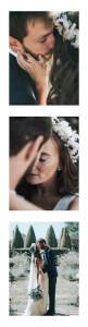 Carte de remerciement mariage Moderne chic (marque-page) bis blanc