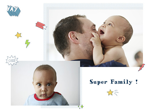 Affichette Super family blanc - Page 1