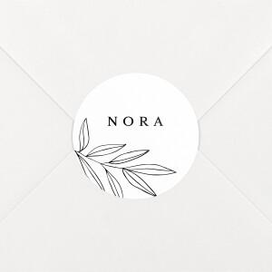 Stickers pour enveloppes naissance Jeune pousse blanc