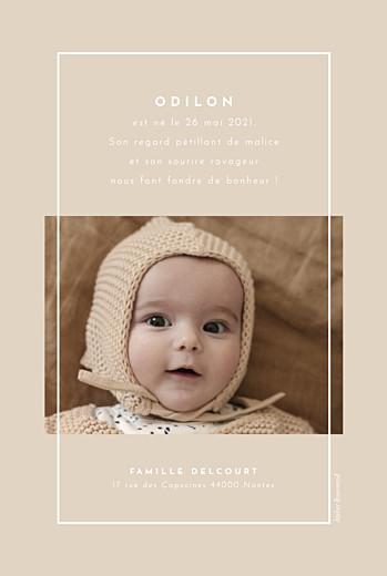 Faire-part de naissance Nuance graphique portrait beige - Page 2