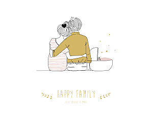 Affiche famille lovely family (baby) fille