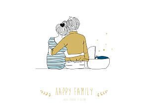 Affiche jaune lovely family (baby) garçon