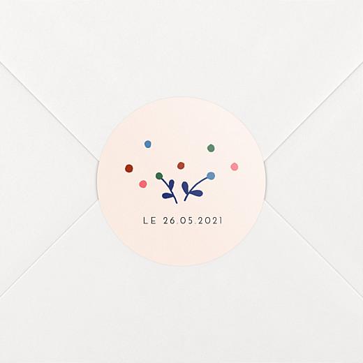 Stickers pour enveloppes naissance Liberty baies bleu - Vue 2