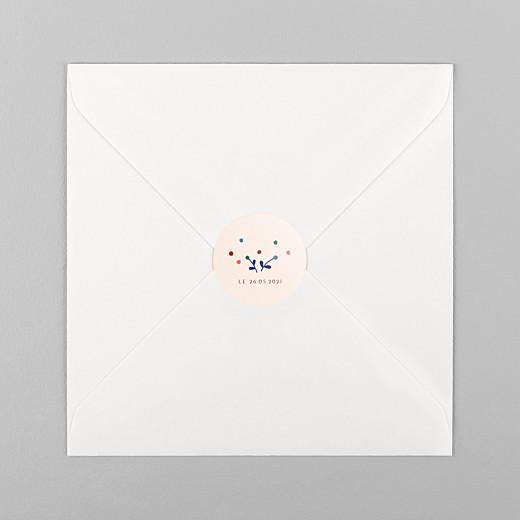 Stickers pour enveloppes naissance Liberty baies bleu - Vue 1