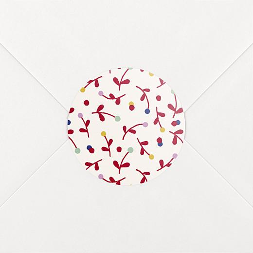 Stickers pour enveloppes naissance Liberty baies rouge - Vue 2