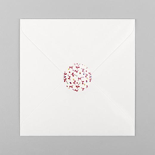 Stickers pour enveloppes naissance Liberty baies rouge - Vue 1