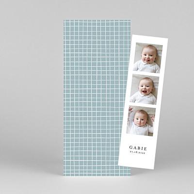 Faire-part de naissance tomoë  catelle (marque-page) bleu