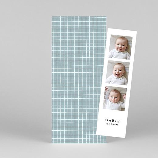 Faire-part de naissance Catelle (marque-page) bleu - Vue 1