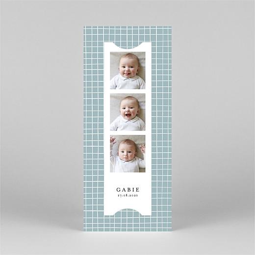 Faire-part de naissance Catelle (marque-page) bleu - Vue 2