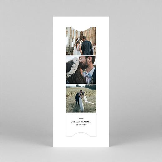 Carte de remerciement mariage Tout simplement (marque-page) blanc - Vue 2