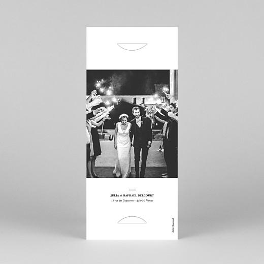 Carte de remerciement mariage Tout simplement (marque-page) blanc - Vue 4
