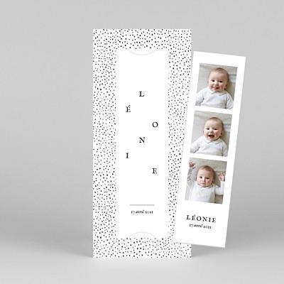 Faire-part de naissance tomoë  little dots (marque-page) rose