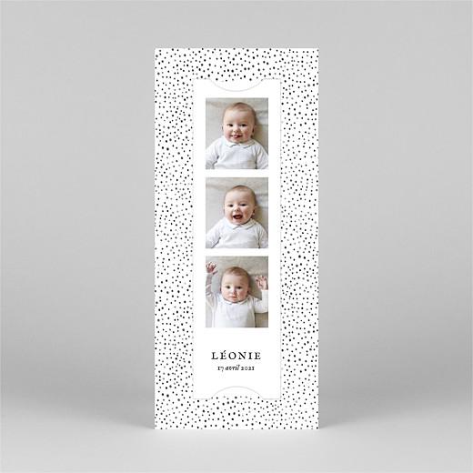Faire-part de naissance Little dots (marque-page) rose - Vue 2