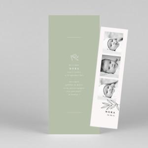Faire-part de naissance Jeune pousse (marque-page) vert