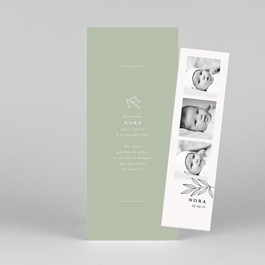 Faire-part de naissance Jeune pousse (marque-page) vert - Vue 1