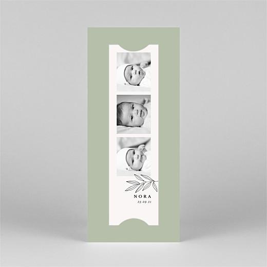 Faire-part de naissance Jeune pousse (marque-page) vert - Vue 2