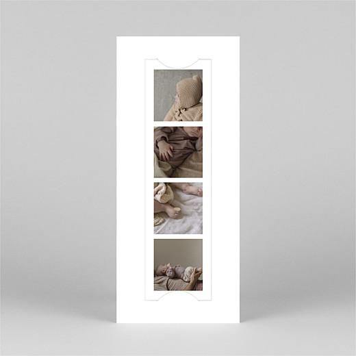 Faire-part de naissance Photomaton (marque-page) blanc - Vue 2