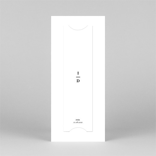 Faire-part de naissance Photomaton (marque-page) blanc - Vue 3