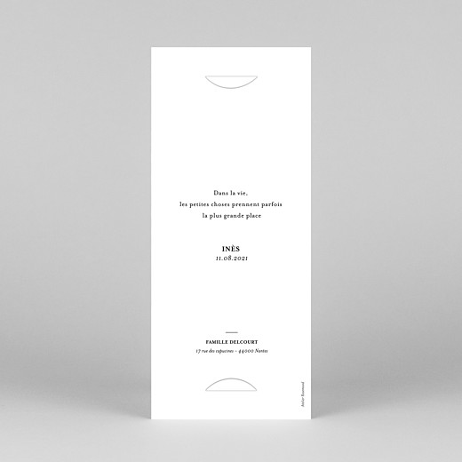 Faire-part de naissance Photomaton (marque-page) blanc - Vue 4