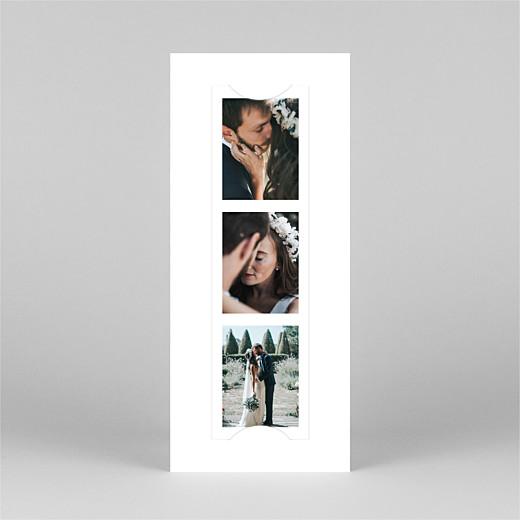 Carte de remerciement mariage Moderne chic (marque-page) blanc - Vue 2