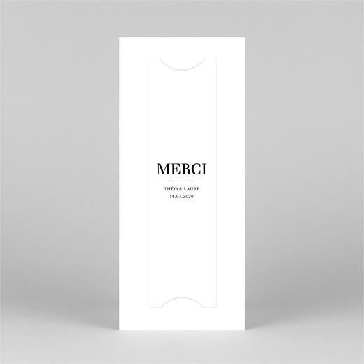 Carte de remerciement mariage Moderne chic (marque-page) blanc - Vue 3