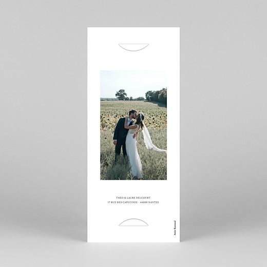 Carte de remerciement mariage Moderne chic (marque-page) blanc - Vue 4