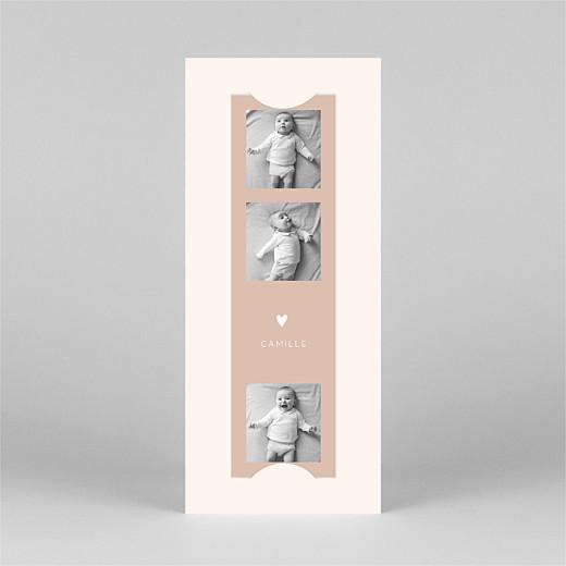 Faire-part de naissance Elégant cœur (marque-page) rose - Vue 2