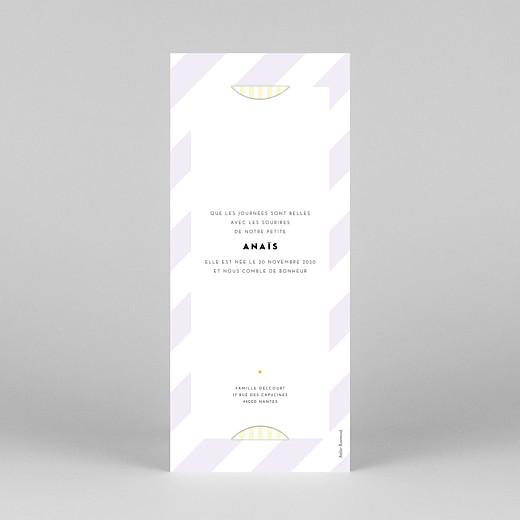 Faire-part de naissance Rayures pastel (marque-page) rose - Vue 4