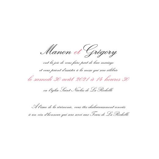 Faire-part de mariage Gourmand raffiné (4 pages) rose - Page 3