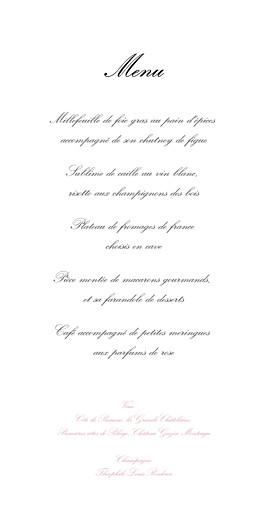 Menu de mariage Gourmand raffiné (4 pages) rose - Page 3