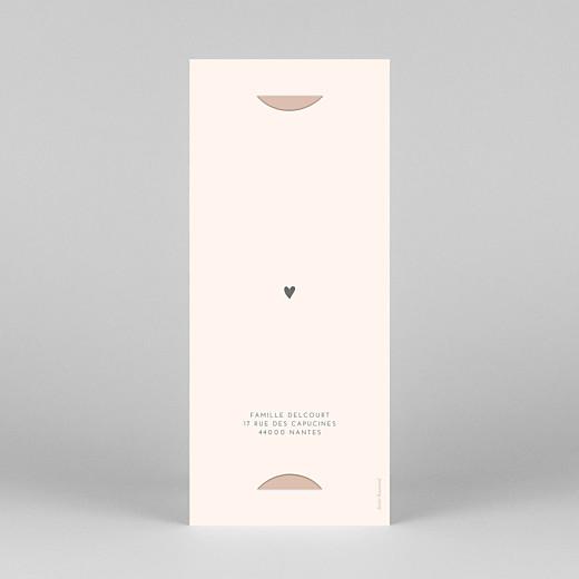Faire-part de naissance Elégant cœur (marque-page) rose - Vue 4