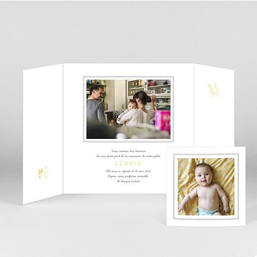 Faire-part de naissance Fable (fenêtre) jaune - Vue 2