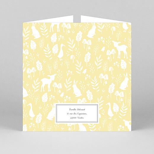 Faire-part de naissance Fable (fenêtre) jaune - Vue 3
