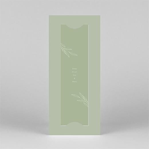 Faire-part de naissance Jeune pousse (marque-page) vert - Vue 3