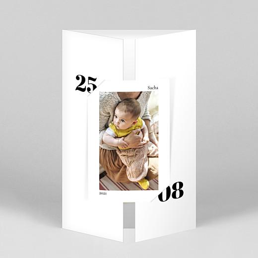 Faire-part de naissance Intemporel (fenêtre portrait) blanc - Vue 1