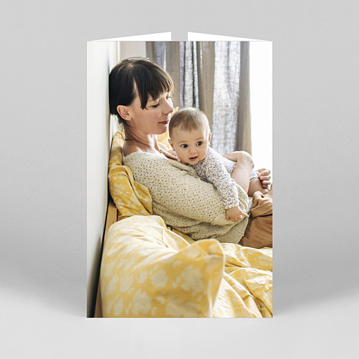 Faire-part de naissance Intemporel (fenêtre portrait) blanc - Vue 3