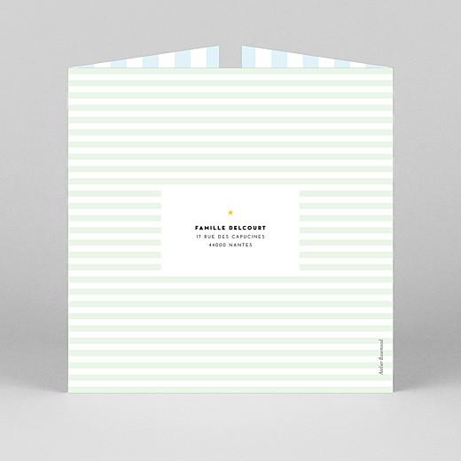 Faire-part de naissance Rayures pastel (fenêtre) bleu - Vue 3