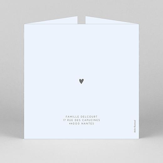 Faire-part de naissance Élégant cœur (fenêtre) bleu - Vue 3
