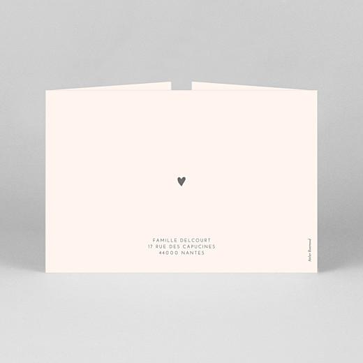 Faire-part de naissance Élégant cœur (fenêtre paysage) rose - Vue 3