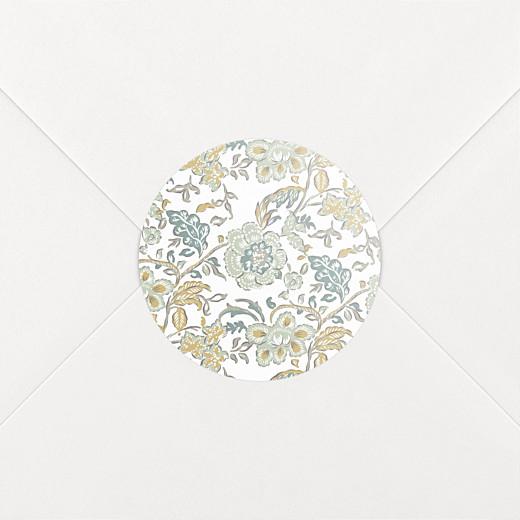 Stickers pour enveloppes naissance Indiennes bleu - Vue 2