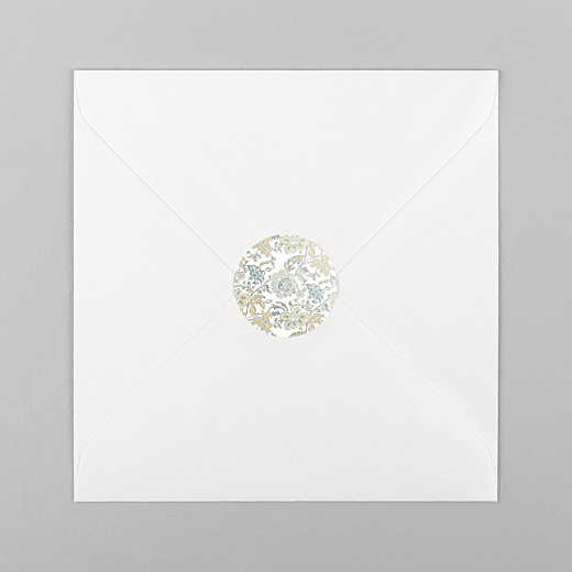 Stickers pour enveloppes naissance Indiennes bleu - Vue 1