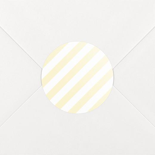 Stickers pour enveloppes naissance Rayures pastel jaune - Vue 2